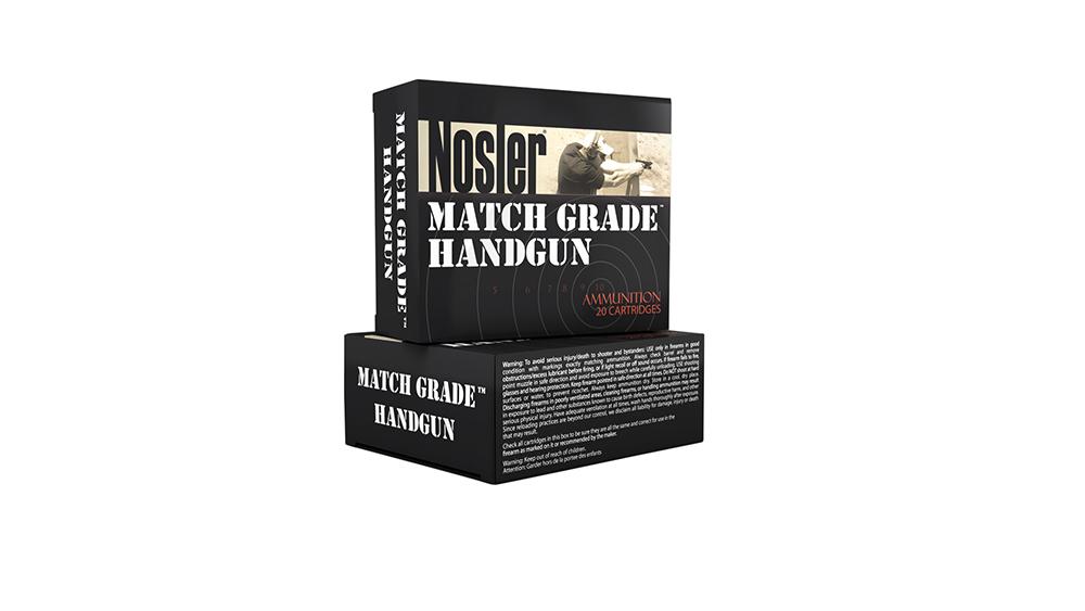 Nosler 51286 Match Grade 9mm Luger 124 GR JHP 20 Bx/ 20 Cs