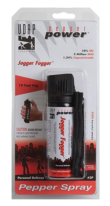 UDAP 3P Jogger Fogger Pepper Spray 1.9oz/11g 10 Feet Fog Spray Black