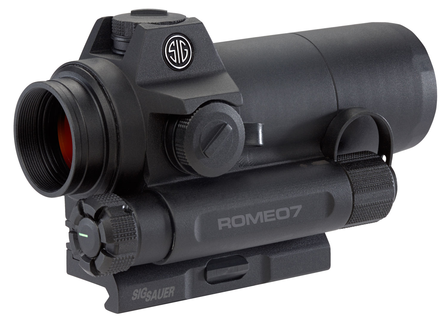 Sig Sauer Electro-Optics SOR71001 Romeo7 1x 30mm Obj 2 MOA Illuminated Red Dot Black AA