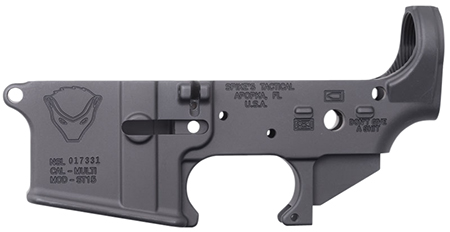 Spikes STLS020 Stripped Lower Honey Badger AR-15 Multi-Caliber Black