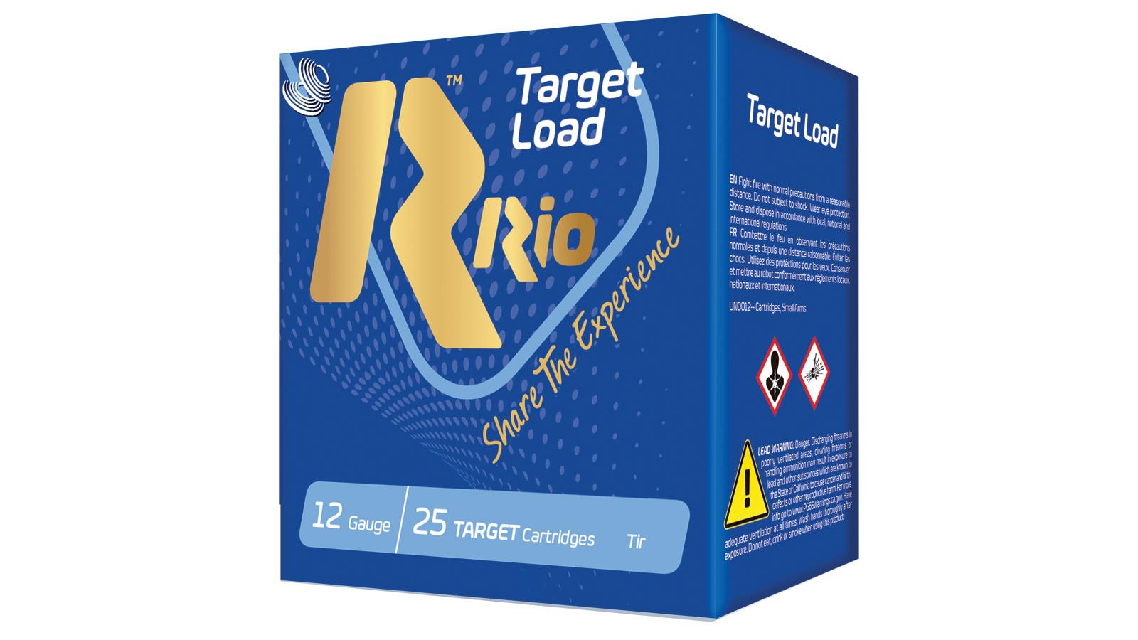 RIO AMMUNITION TLT328 Target Load Trap Light Handicap 12 Gauge 2.75