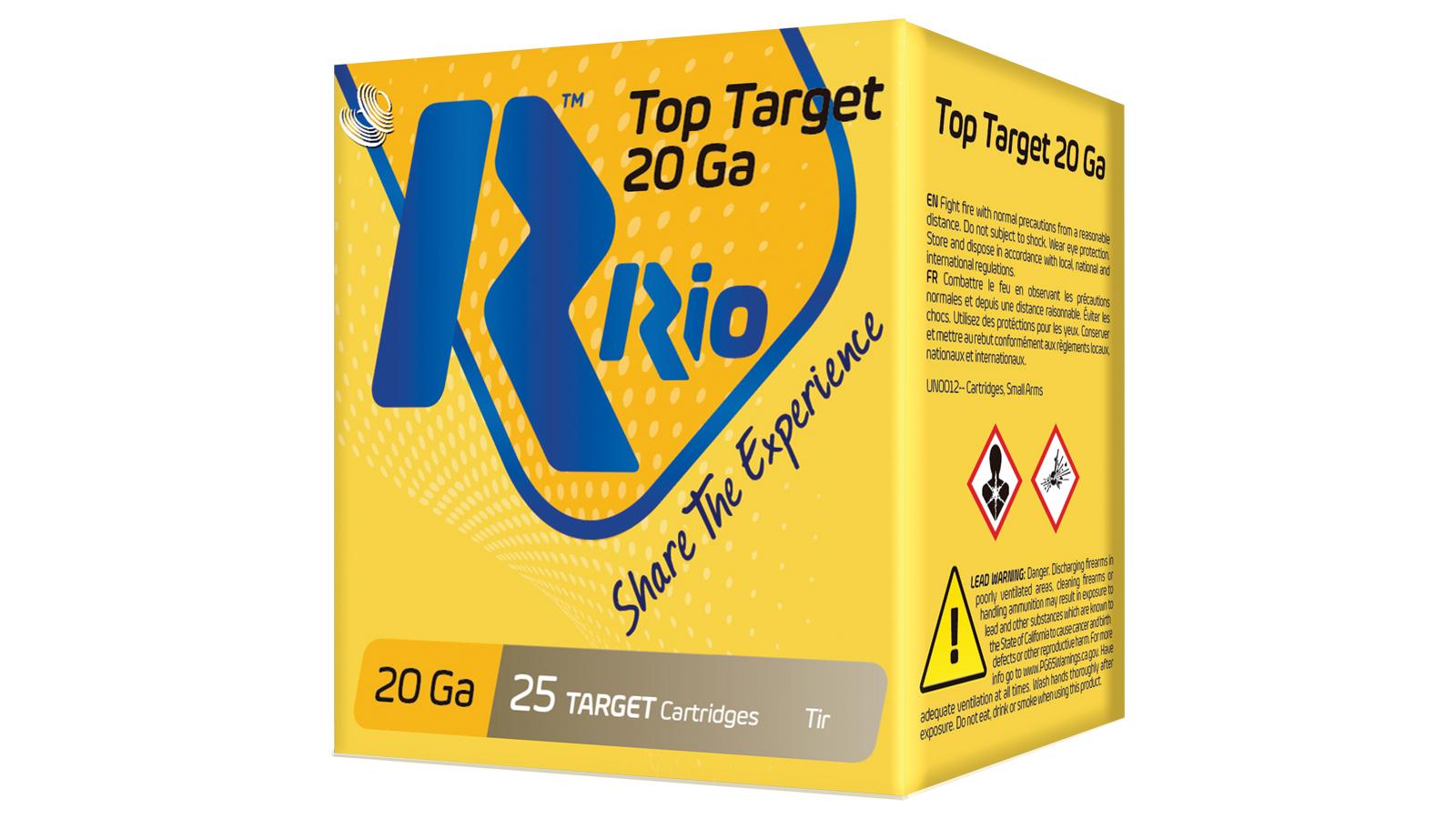 RIO AMMUNITION TT2075 Top Target  20 Gauge 2 3/4