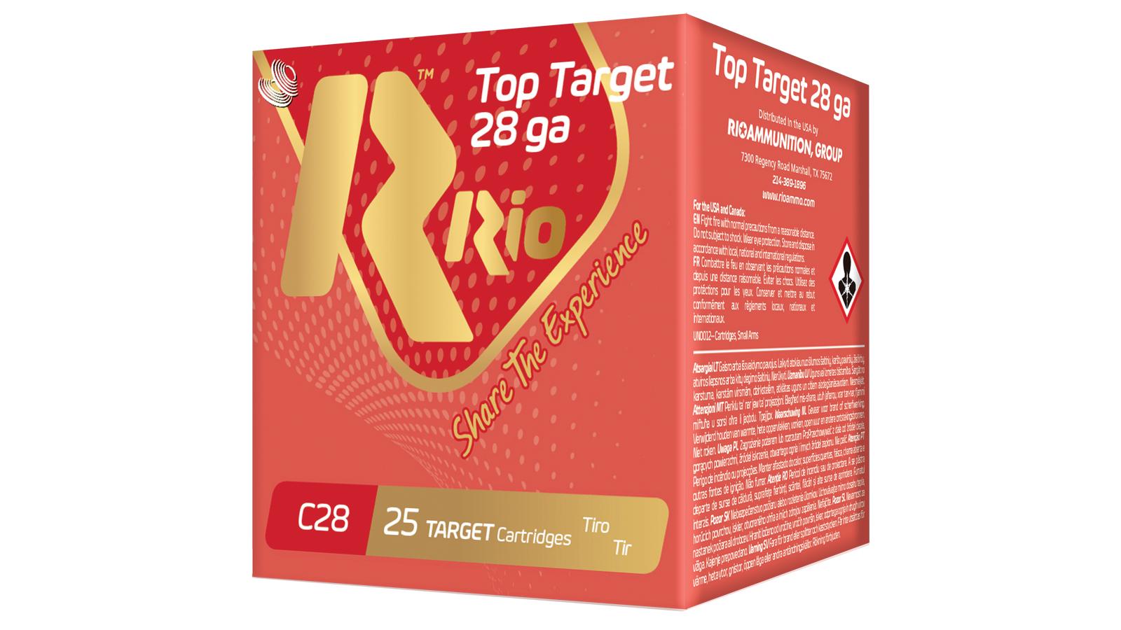 RIO AMMUNITION RC288 Top Target  28 Gauge 2.75