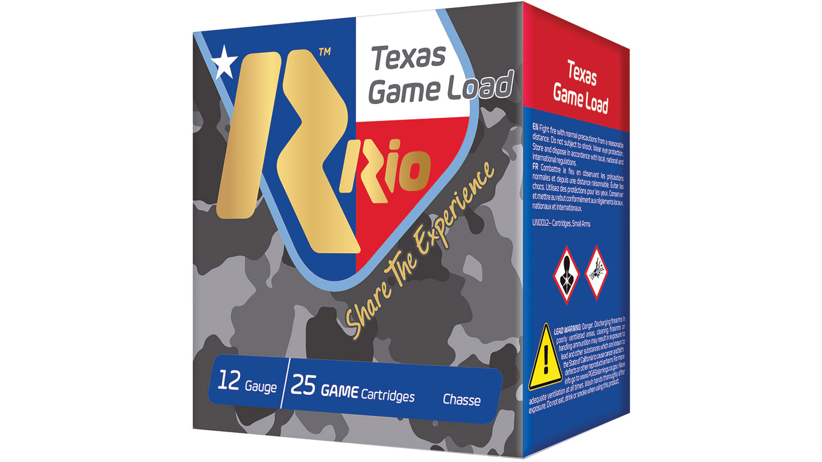 RIO AMMUNITION TG368TX Top Game Texas Game Load Standard Velocity 12 Gauge 2.75