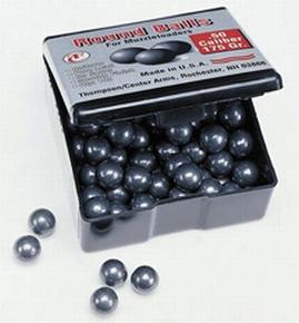 Thompson Center Swaged Lead Round Balls  <br>  .50 cal. 175 gr. 100 pk.