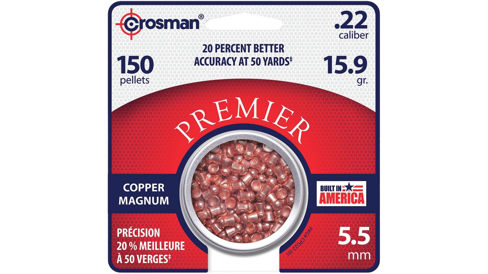 Crosman Premier Copper Pellet  <br>  .22 150 pk.