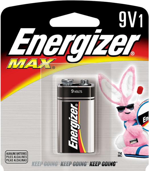 Energizer 522BP Max Alkaline 9V Battery 1Pk