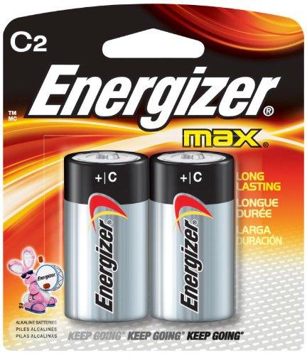 Energizer E93BP-2 Max Alkaline C Batteries 2Pk