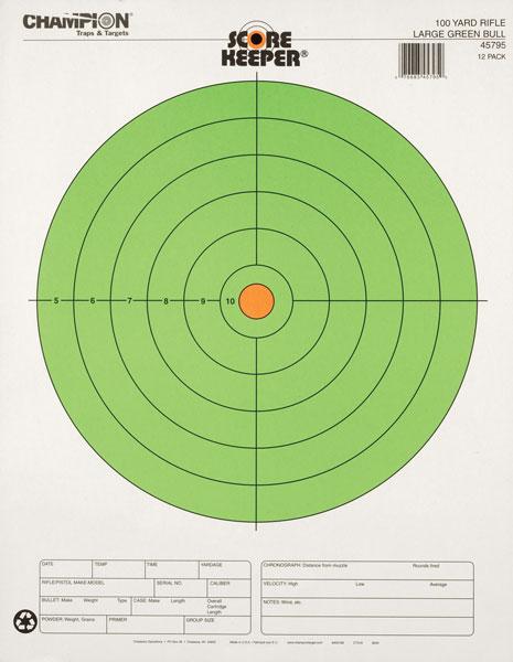Champion 45795 Scorekeeper 100Yd Rifle Target, 8