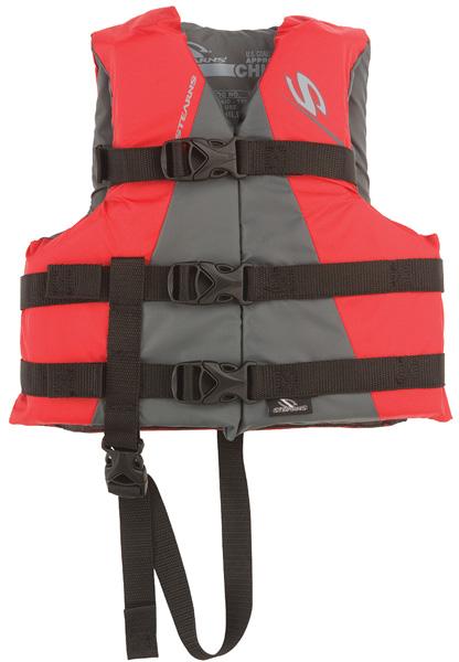 Stearns 3000001704 PFD Child Life Vest Nylon Classic Red