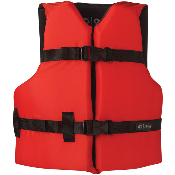 Onyx 103000-100-002-12 General Purpose Life Vest Youth PFD, Red