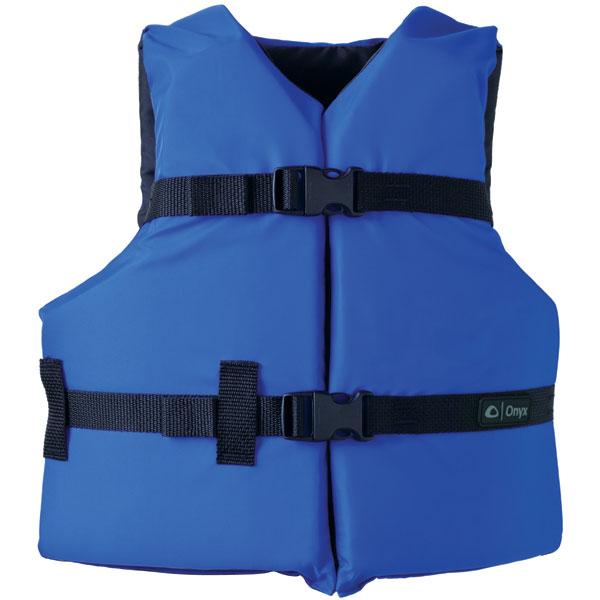 Onyx 103000-500-002-12 General Purpose Life Vest Youth PFD, Blue