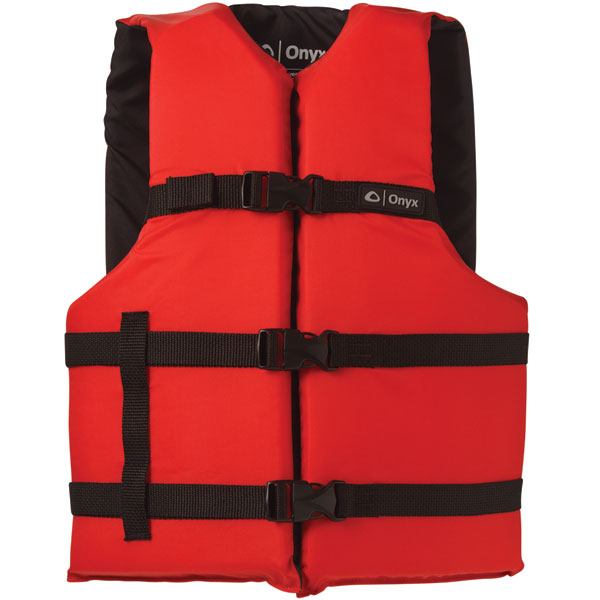 Onyx 103000-100-004-12 General Purpose Life Vest Adult PFD, Red