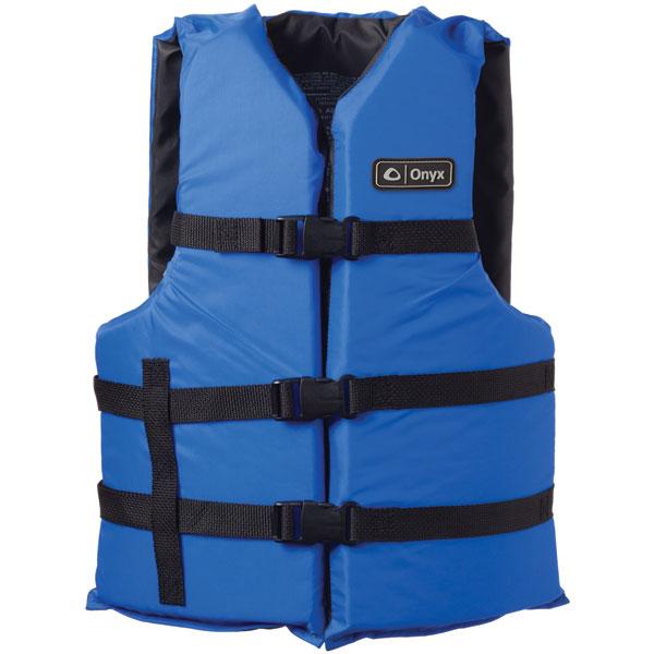 Onyx 103000-500-004-12 General Purpose Life Vest Adult PFD, Blue