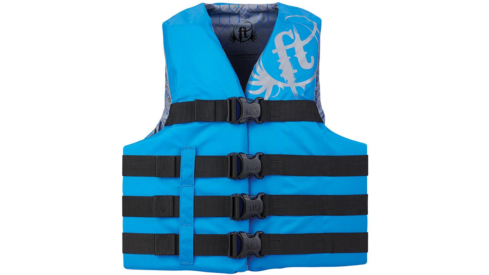 Full Throttle Teen Life Jacket Nylon-Blue