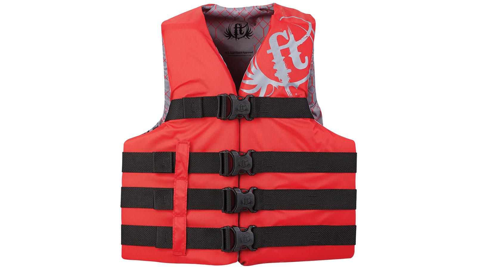 Full Throttle Teen Life Jacket Nylon-Red