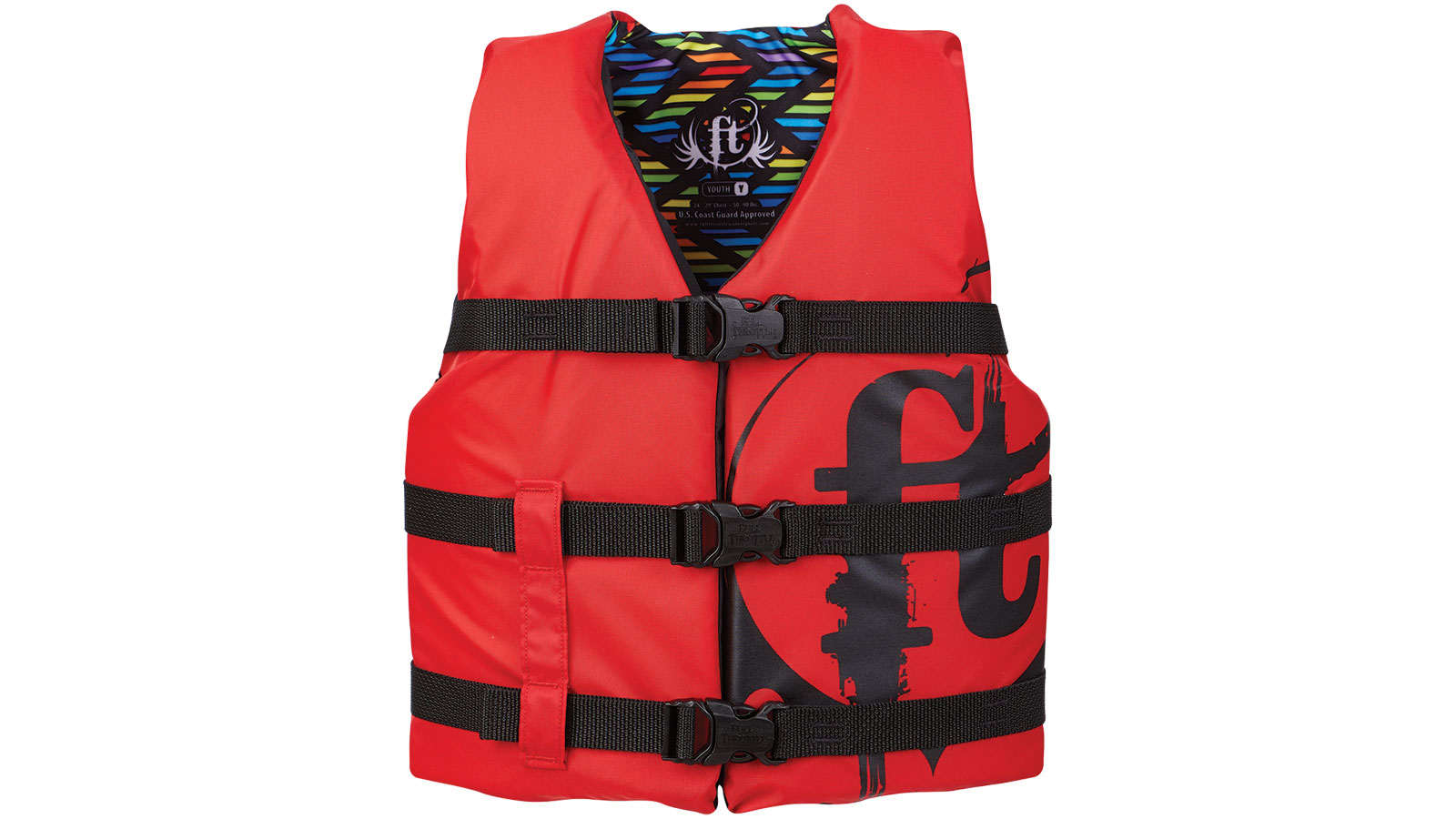 Full Throttle 112200-100-002-19 Youth Nylon Red Youth