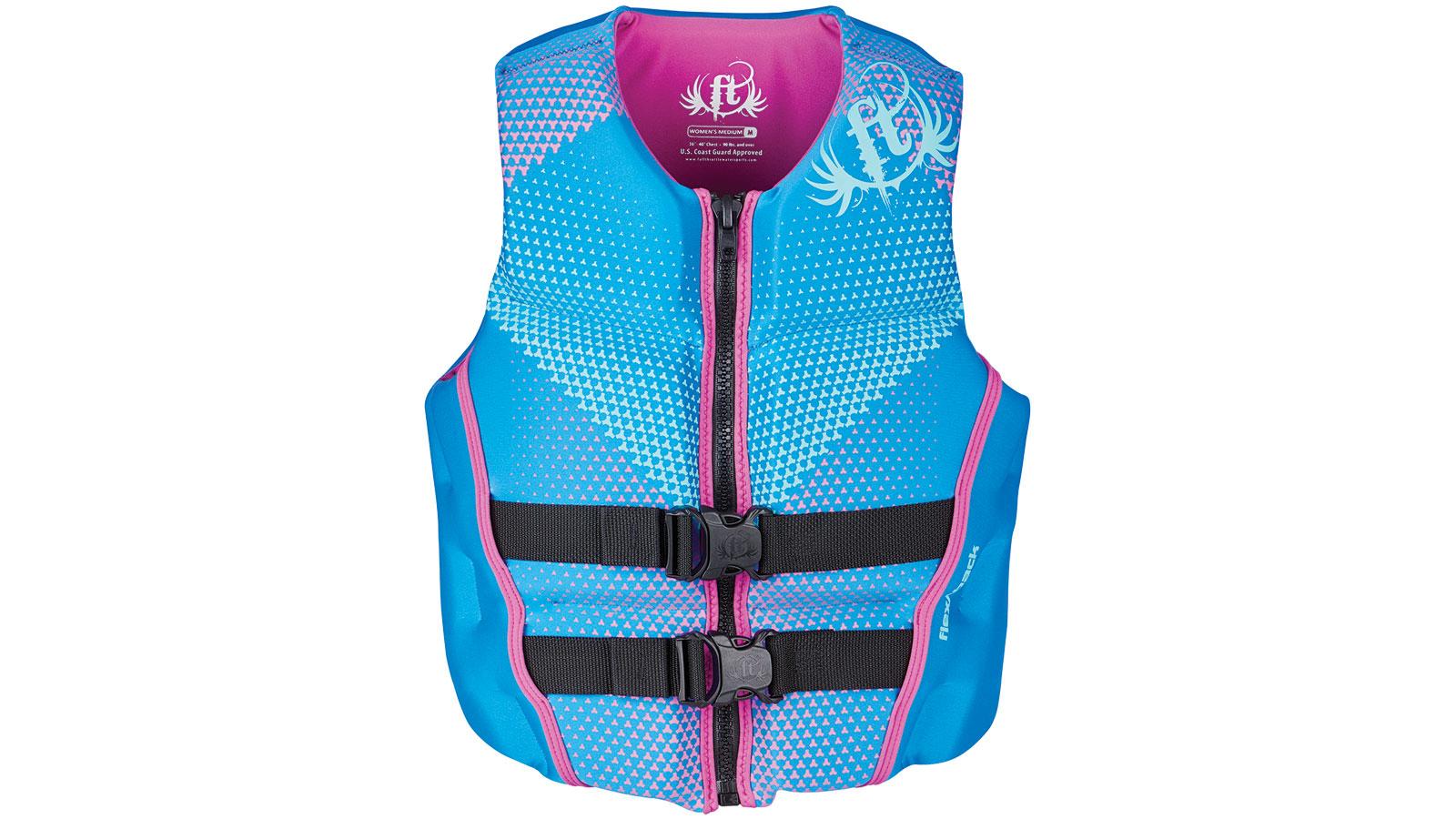 Full Throttle 142500-500-820-19 Womens Rapid-Dry Flex-Back Blue S