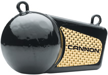 Cannon 2295002 Downrigger Trolling Flash Weight, Black w/Prism Tape