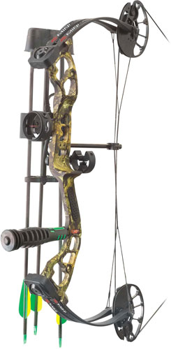 PSE Mini Burner RTS Package  <br>  Mossy Oak Country 16-26.5 in. 40 lbs. RH