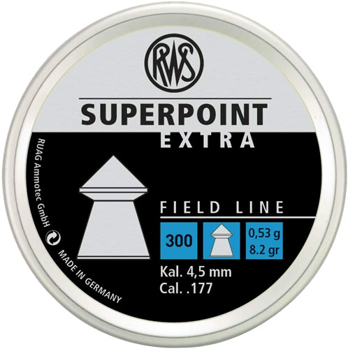 RWS Superpoint Extra Field Line .177 Pellet  <br>  300 ct.