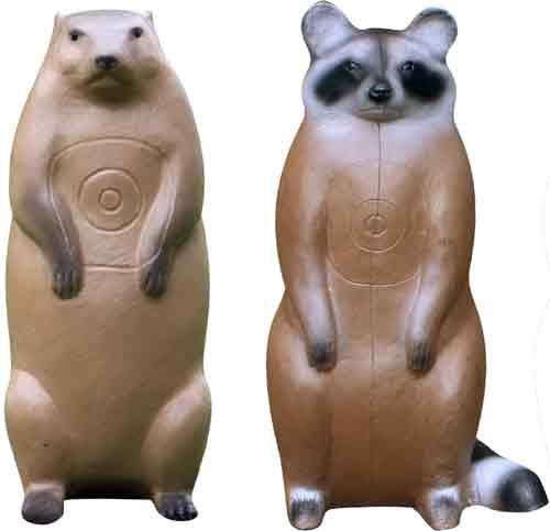 Real Wild Raccoon and Groundhog Combo Target  <br>