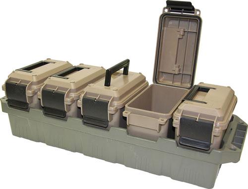 MTM Ammo Crate  <br>  5 can Mini Dark Earth/Army Green