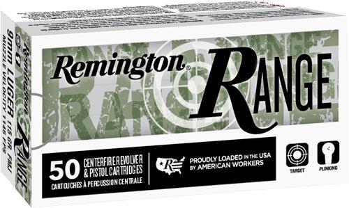 Remington Ammunition 28564 Range 9mm Luger 115 gr Full Metal Jacket (FMJ) 50 Bx/ 10 Cs