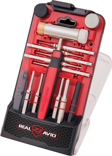 Real Avid/Revo AVHPS-RP Accu-Punch Hammer & Roll Pin Punch Set Black/Red Steel Rubber Handle