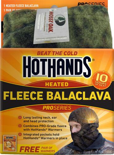 HOTHANDS HEATED BALACLAVA MOSSY OAK BU W/FREE PCK WARMRS