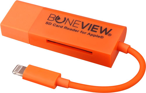 BONEVIEW SD CARD READER FOR IPHONE 5,6,7 W/LIGHTNING XTNDR
