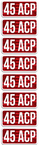 MTM AMMO CALIBER LABELS .45ACP 8-PACK