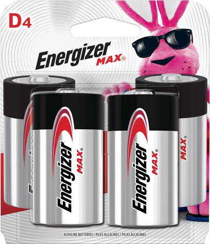 ENERGIZER MAX BATTERRIES D 4-PACK