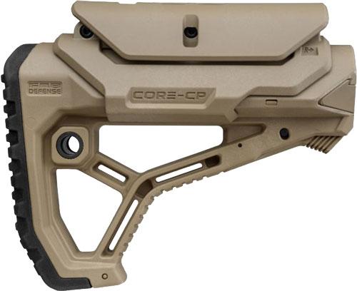 F.A.B. DEFENSE BUTTSTOCK AR-15 /M4 FDE ADJ CHEEK PIECE