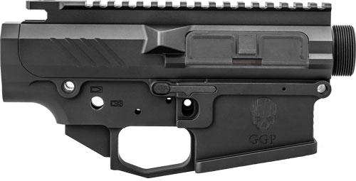 GREY GHOST PRECISION GGPSHEAVYRCVR AR MKII Heavy Receiver Set AR-10 Platform Multi-Caliber Black Hardcoat Anodized