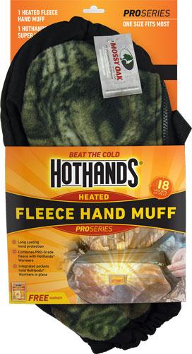 HOTHANDS HEATED HAND MUFF MOSSY OAK BREAK UP W/FREE WRMR