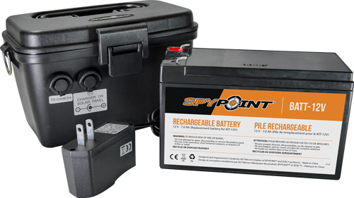 SpyPoint Rechargeable Battery  <br>  12V w/Charger