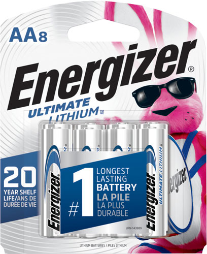 ENERGIZER ULTIMATE LITHIUM BATTERIES AA 8-PACK