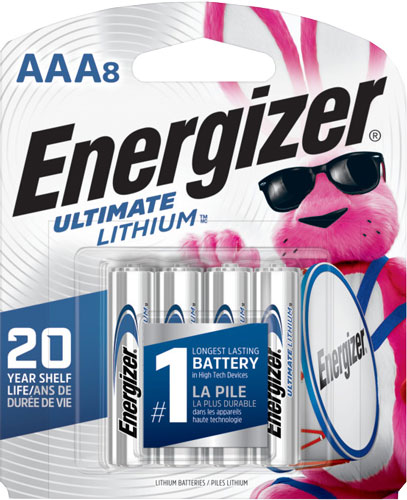 ENERGIZER ULTIMATE LITHIUM BATTERIES AAA 8-PACK