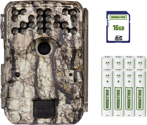 MOULTRIE TRAIL CAM A-900 30MP INFRARED W/16GB CARD/BATTERIES