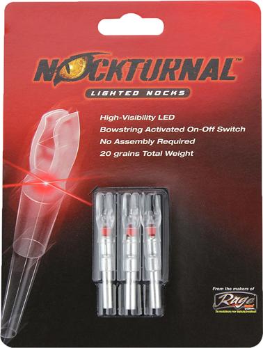 NOCKTURNAL LIGHTED NOCK G-SERIES RED 3/PACK