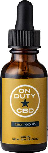 ON DUTY CBD OIL THC FREE 1000MG 30ML BOTTLE (1 FL.OZ.)