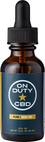 ON DUTY CBD OIL PURE FS 1000MG 30ML BOTTLE (1 FL.OZ.)