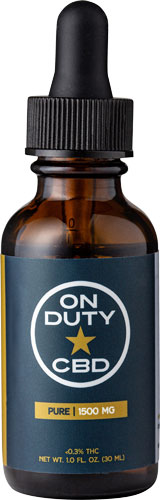 On Duty CBD Oil Drops  <br>  Pure Full Spectrum 1500 mg 30 mL