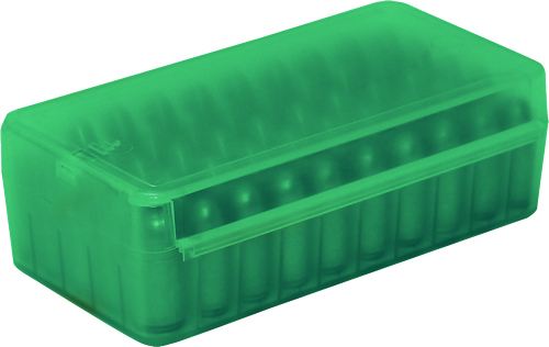 MTM AMMO BOX .45ACP/.40SW/10MM 50-ROUNDS SIDE SLIDE CL GREEN