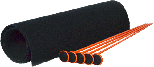 GSS SMALL RIFLE ROD KIT 5 ORNG RIFLE RODS .22 CAL 19