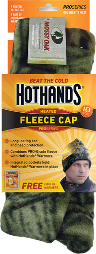 HOTHANDS HEATED KNIT CAP MOSSY OAK BU W/FREE PAIR OF WARMERS